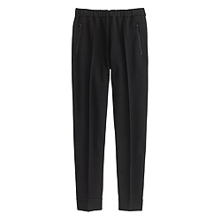 Ankle-zip pant in black