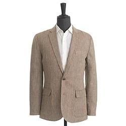 Ludlow sportcoat in brown checked Irish linen
