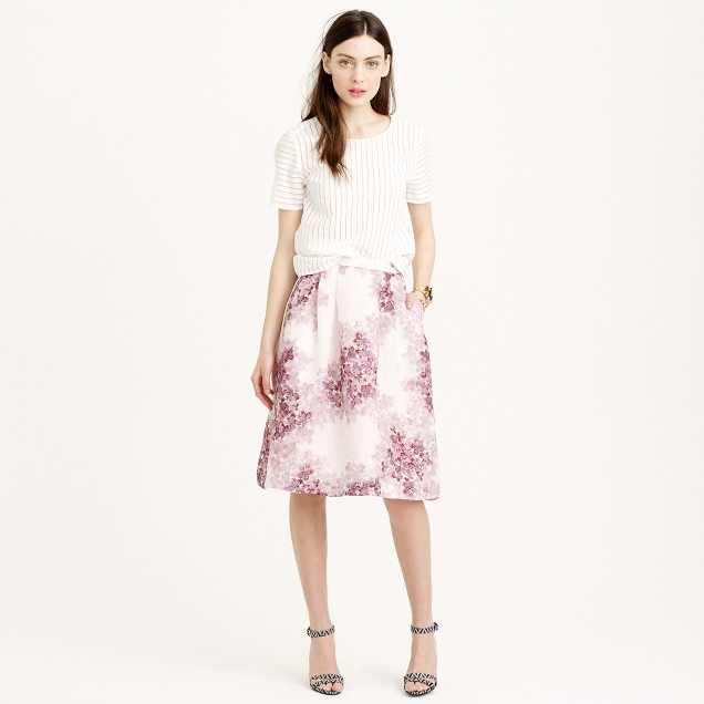 Collection circle skirt in misty hydrangea