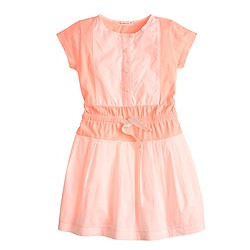 Girls' colorblock bib dress