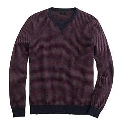 Striped cotton sweatshirt sweater
