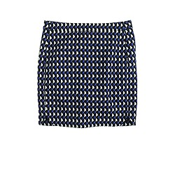 Jet-set geo mini skirt