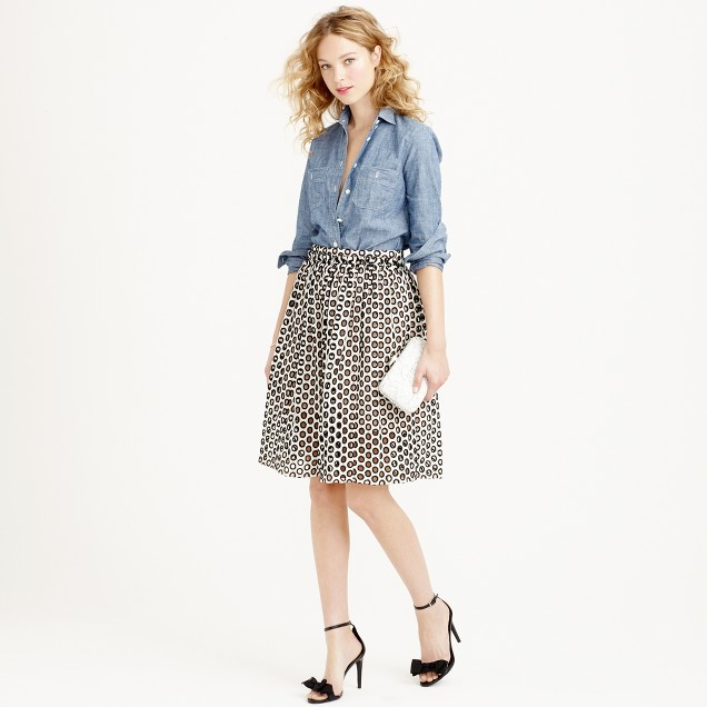 Punched-out eyelet skirt