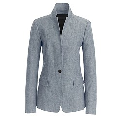 Petite  blazer in chambray
