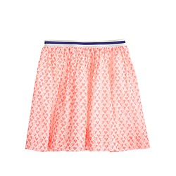 Girls' pull-on skirt in mini heart
