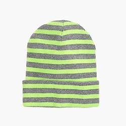 Kids' neon-stripe beanie
