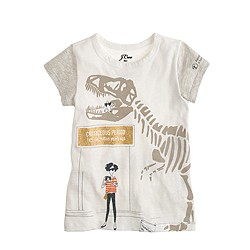 J.Crew for the American Museum of Natural History Olive and dino T-shirt