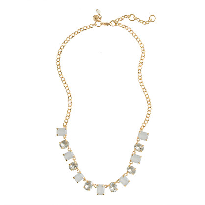 Girls' crystal gem box necklace