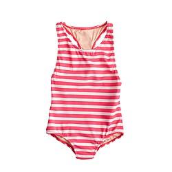 Girls' racerback one-piece swimsuit in stripe