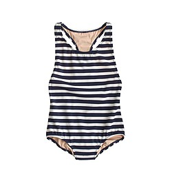 Girls' racerback one-piece swimsuit in stripe