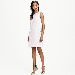 Petite jacquard zip-pocket shift dress