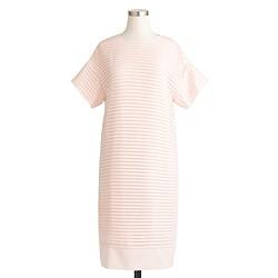 Pleated chiffon T-shirt dress