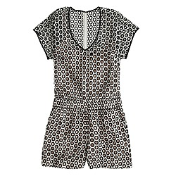 Punched-out eyelet romper