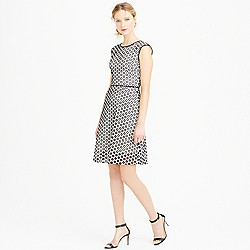 Petite punched-out eyelet dress