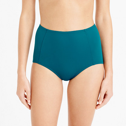 Italian matte high-waist bikini brief