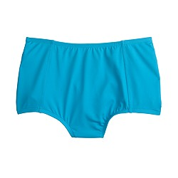 Italian matte high-waist bikini brief
