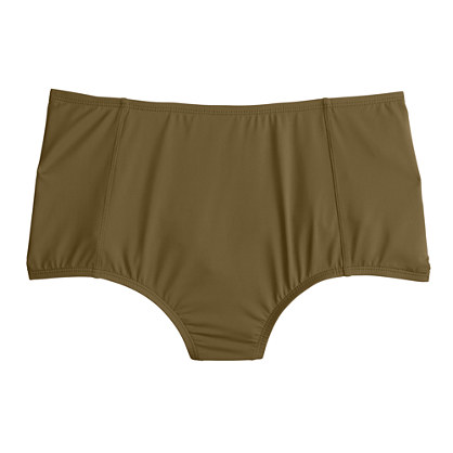 High-waist French bikini brief in Italian matte