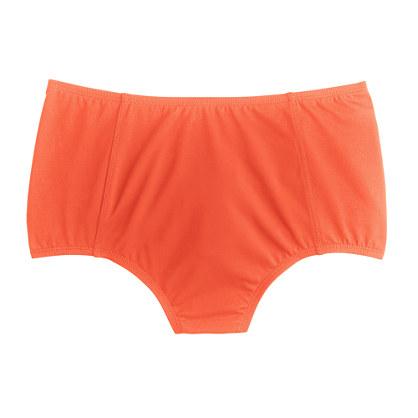 High-waist French bikini brief in Italian matte