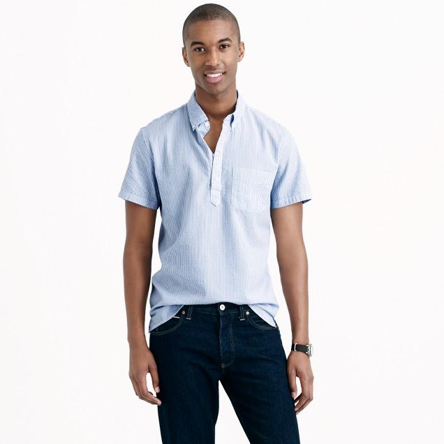 Short Sleeve Popover Shirt In Seersucker J Crew