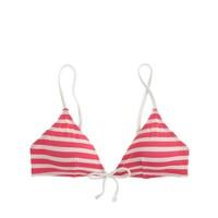 Sailor stripe tie-front french bikini top