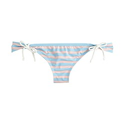 Sailor stripe side-tie hipster bikini bottom