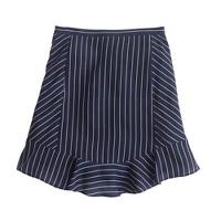 Swing skirt in pinstripe