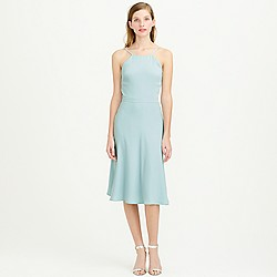 Carly dress in drapey matte crepe