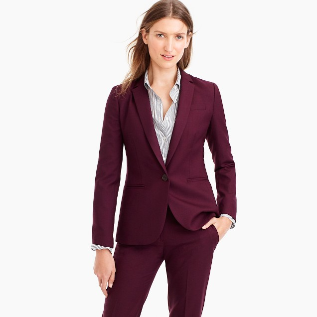 Petite Campbell blazer in Super 120s wool