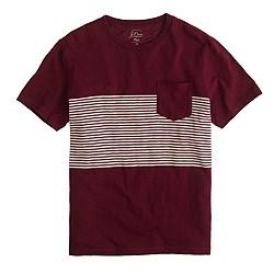 Tall pocket T-shirt in multistripe
