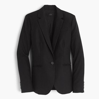 Petite Campbell blazer in pinstripe Super 120s wool
