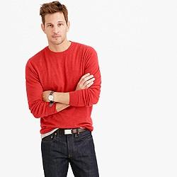 Tall lightweight Italian cashmere crewneck sweater
