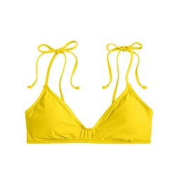 Shoulder-tie french bikini top