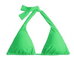 Sliding halter bikini top
