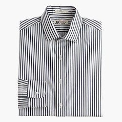 Thomas Mason® for J.Crew Ludlow shirt in bright navy stripe