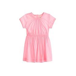 Baby dress in mini-stripe