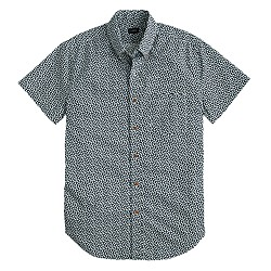 Secret Wash short-sleeve shirt in dark navy floral