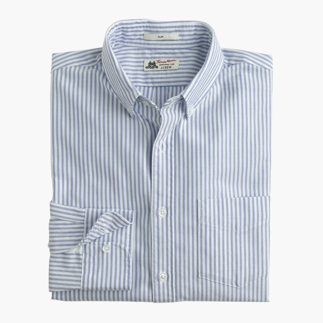 Slim Thomas Mason® for J.Crew oxford cloth shirt in vintage stripe