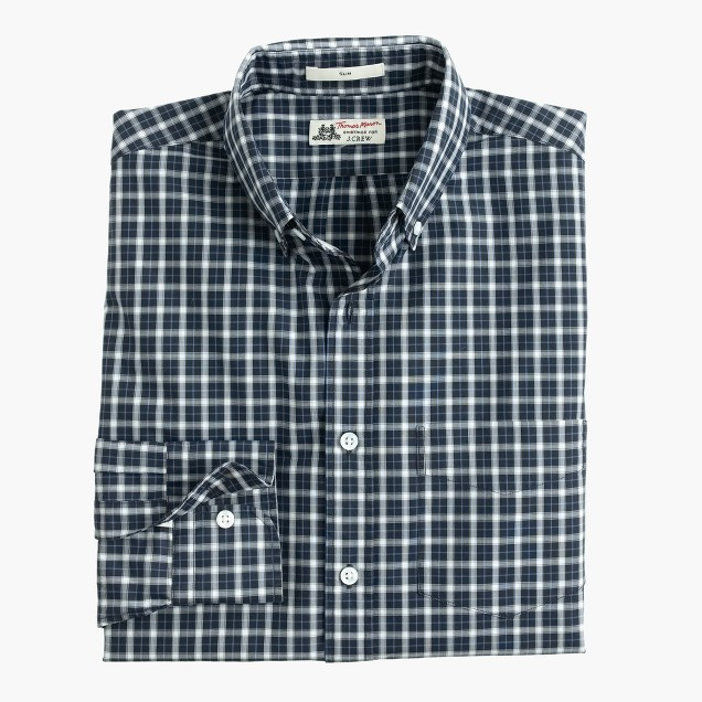 Slim Thomas Mason® for J.Crew shirt in black tartan