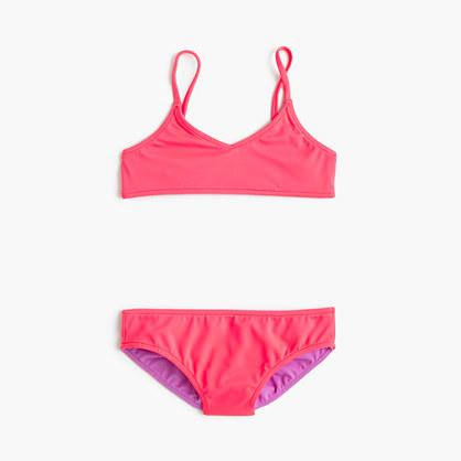 Girls' reversible bikini set