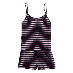 Whisper jersey romper in stripe