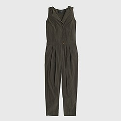 Sleeveless trench jumpsuit