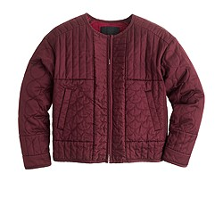Collection quilted sateen jacket