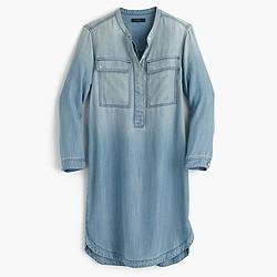 Drapey chambray shirtdress