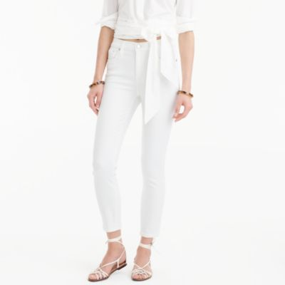 "Tall 9"" lookout high-rise crop jean in white"