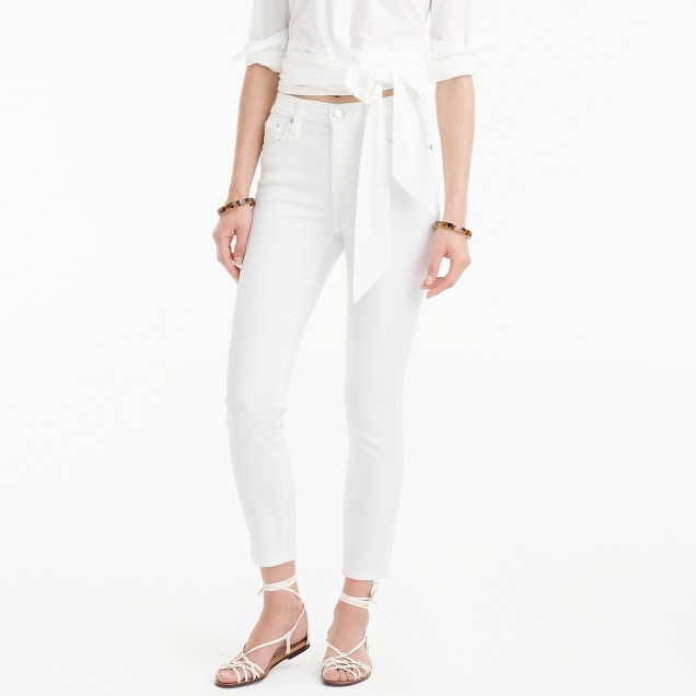 Petite lookout high-rise crop jean in white