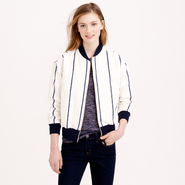 Striped utility jacket