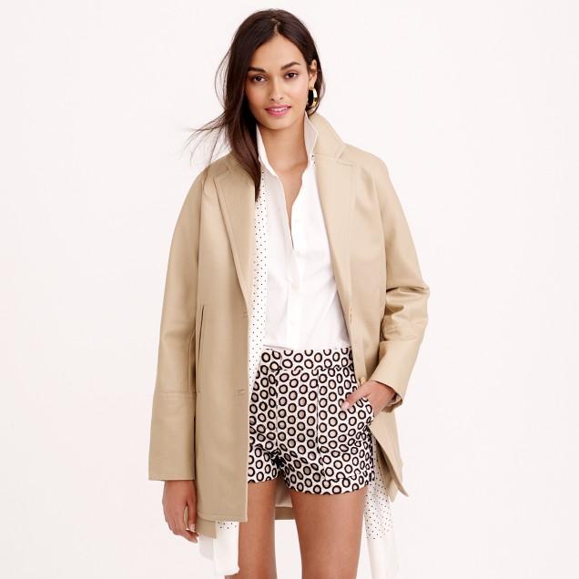 Petite bonded cotton trench coat