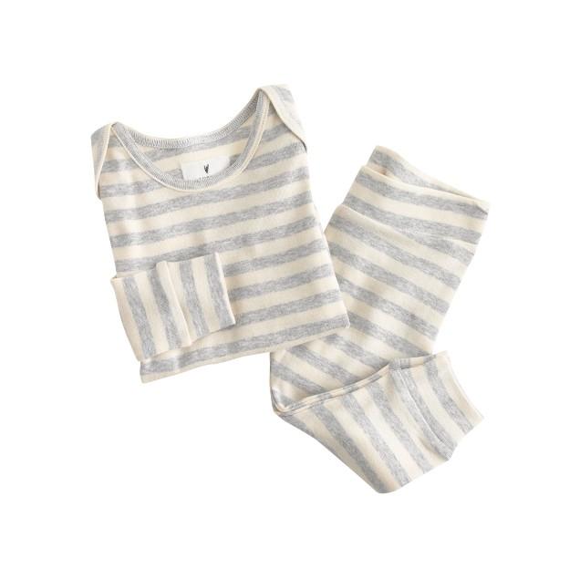 Baby pajama set in heather stripe