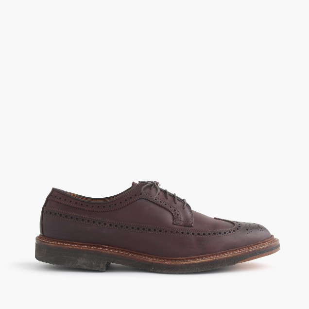 Alden® for J.Crew longwing crepe sole bluchers