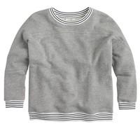 Stripe-trim sweatshirt